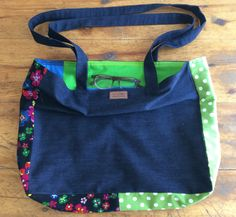 How does your garden grow? Oh - no garden? How about a bright lined floral bag? Your Boyfriend, Boyfriend Jeans, Floral Bags, Diaper Bag, Bright, Denim, Garden, Fashion, Moda