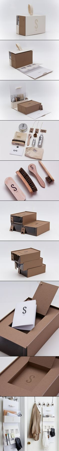 SKINS Shoe #Packaging #Design | Jiani Lu so cool makes me want to buy shoes you have to polish : ) PD #identity #branding