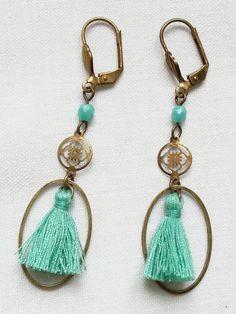 Hey, I found this really awesome Etsy listing at https://www.etsy.com/listing/129682515/aqua-blue-earrings-tassel-earrings