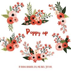 really cute nails Vector Flowers, Flower Clipart, Easy Watercolor, Watercolor Flowers, Poppy Bouquet, Mexican Flowers, Floral Embroidery Patterns, Floral Illustrations, Floral Bouquets