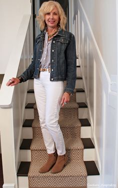 Who says you can't wear white jeans after Labor Day?  You definitely can!