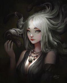 General 1920x2369 fantasy art Medusa