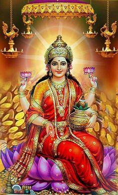 Goddess lakshmi devi images Upon the arrival of Diwali, it is a custom to venerate Goddess Lakshmi and Lord Ganesha togeth Shiva Hindu, Shiva Shakti, Hindu Deities, Hindu Art, Durga Images, Lakshmi Images, Devi Images Hd, Ganesh Images, Ganesha Pictures