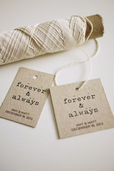 DIY Printable Favor Tags  Forever and Always  by ThreeEggsDesign, $7.00