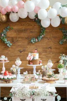 Rustic Birthday Parties, Elegant Birthday Party, Fairy Birthday Party, Girl Birthday Themes, Garden Birthday, Birthday Party Decorations, Birthday Ideas, Birthday Centerpieces, Craft Party