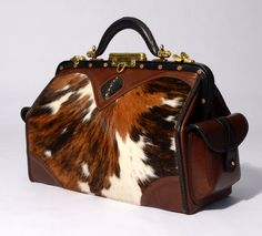 Antique Cowhide Stingray Doctor Bag by a modern master craftsman - lots of detail and available at Trawick and Martin in Kentucky, a great store.