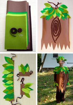 Tree King Halloween Costume - Kit from Purl Soho: Each kit includes full instructions as well as full size templates, one piece of light brown felt measuring 18 x 72 inches, one piece of dark brown felt measuring 9 x 72 inches, 8 pieces of felt in 4 colors for the leaves measuring 9 x 12 inches, 2 yards of brown grosgrain ribbon, brown pearl cotton and embroidery needles. If you'd like to buy just the pattern you can find them under Idea Center > Patterns > Company Purl Soho. $78.95