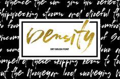 Density - dry brush font by Favete Art on @creativemarket