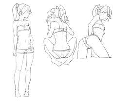 Anatomy Sketches, Anatomy Drawing, Art Sketches, Body Drawing, Manga Drawing, Manga Art, Figure Drawing Reference, Anatomy Reference, Cartoon Drawings