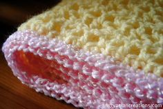baby blanket using crochet V stitch