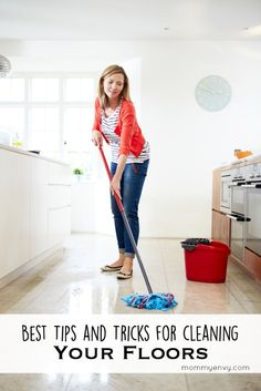 The Mommy Envy Spring Cleaning Series. The best tips for cleaning floors! Hardwood floors are not hard to maintain if done the right way!