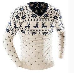 2016 Men'S Fashion Animal Print Sweater Men Leisure Slim Pull Homme O-Neck Long-Sleeved Sweater Solid Sweater Sweater Men XXL YU