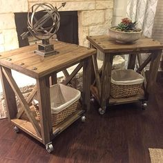 Rustic x end table, hardware choices.....