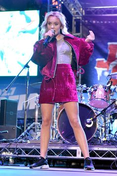 Zara Larsson Photos Photos - Recording artist Zara Larsson performs onstage at 102.7 KIIS FM's Jingle Ball Village during iHeartRadio's Jingle Ball 2016 presented by Capital One pre-show at on December 2, 2016 in Los Angeles, California. - 102.7 KIIS FM's Jingle Ball Village Pre-Show - Show