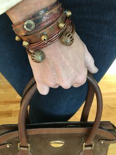 4 handmade cuffs from New Territory Jewelry. Fab for stacking !