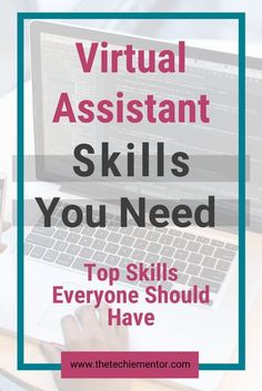 Do you know what skills you need to have in order to be a virtual assistant? There are certain skills all virtual assistants should have click through to find out what top skills you must know and have to be a successful virtual assistant. | virtual assistant tips | virtual assistant services | virtual assistant training | Small Business Plan, Writing A Business Plan, Work From Home Business, Business Tips, Successful Business, Business Planning, Online Business, Entrepreneur Motivation, Business Entrepreneur