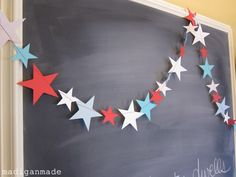 Simple Fourth of July Garland via Make: