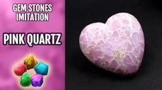DIY Polymer Clay Realistic Natural Pink Quartz Gemstone. Gemstone imitation technique. - YouTube