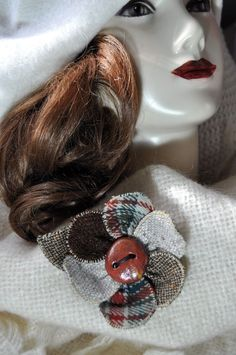 scottish tartan red brown brooch pin wool tweed hat OOAK coat waistcoat new Wool Cape, Hair Decorations, Scottish Tartans, Handmade Christmas Gifts, Scarf Hairstyles, New Outfits, Brooch Pin, Tweed, Boho