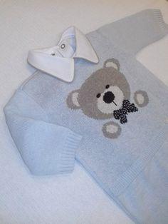 Macacão Urso Azul Claro