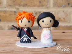 Ichigo Kurosaki groom and bride wedding cake topper by Genefy Playground https://www.facebook.com/genefyplayground