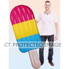 180cm Ice  Lolly Inflatable Air Mat