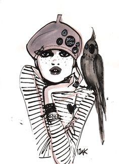 My own personal muse, Lola #izakzenou #izak #illustration #trafficnyc