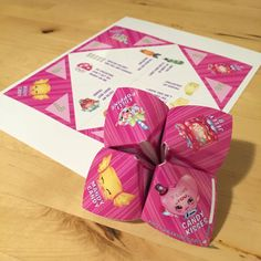 Do you collect everything Shopkins? Who doesnt! Complete your collection with this Limited Edition Shopkins-inspired Valentine CootieCatcher.  Easy