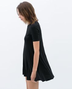 zip back dress // zara trafaluc
