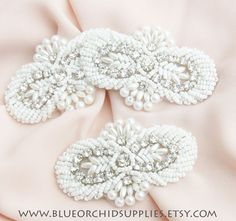 Crystal Beaded Applique Sashes Fascinators by BlueOrchidSupplies, $6.45