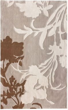 Keno Transitional Floral Cloudy Sky Rug   Contemporary Rugs
