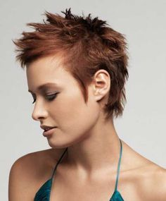 Amazing Short Spiky Haircuts for Women 2015