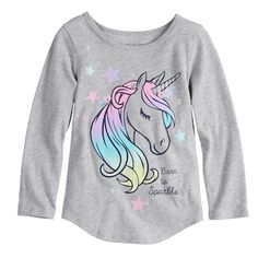 """Toddler Girl Jumping Beans® """"Born To Sparkle"""" Unicorn Tee size 4 Kids Outfits Girls, Cute Outfits For Kids, Toddler Girl Outfits, Unicorn Outfit, Unicorn Clothes, Stitch Fix Kids, Kids Dress Wear, Girl Bottoms, Girls Pajamas"""