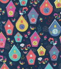 Novelty Cotton Fabric-Cuckoo
