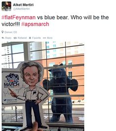 Flat Feynman Tweets
