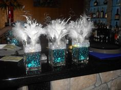 Tiffany & Co themed centerpieces by EAbyBrianne on Etsy, $25.00