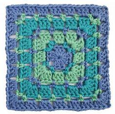 Block Stitch Crochet Granny Square