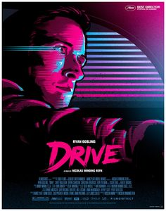 My DRIVE poster, created in 2011 as a personal project after seeing the film…