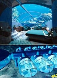 Nautilus Undersea Suite at The Poseidon Resort, Fiji. Must go one day....