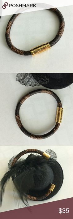 LV Keep It leather bracelet brand new. Non brand. Jewelry Bracelets