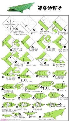 Origami cocodrilo