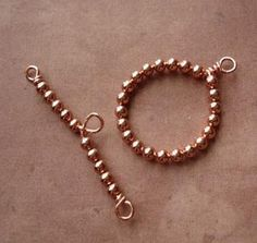 diy jewelry ideas | How To Make A Beaded Toggle and Bar Clasp
