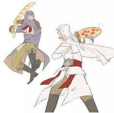 French vs Italian Assassins fighting to the death.