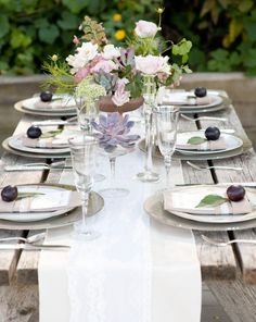 Beautiful table; so inviting and fresh