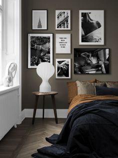 Furnishing ideas and inspiration Art & Living Ideas - Desenio.at, Furnishing ideas and inspiration Art & Living Ideas - Desenio. Decor Room, Bedroom Decor, Home Decor, Gallery Wall Bedroom, Gallery Walls, City Gallery, Home Bedroom, Bedroom Wall, Ideas Hogar