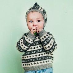 Knitting For Kids, Baby Knitting Patterns, Hand Knitting, Punto Fair Isle, Knit Crochet, Crochet Hats, Knitted Baby Clothes, Boys Sweaters, N21