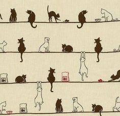 Alguém gosta desenho de gatos?