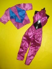 Vtg Jem and the Holograms 80s CLONE TOTSY Doll Clothes Lot Rockstar Jumpsuit Set
