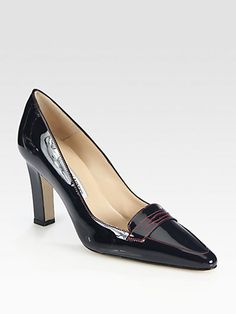 Manolo Blahnik - Patent Leather Loafer Pumps