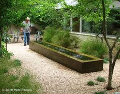 trough water feature - Google Search